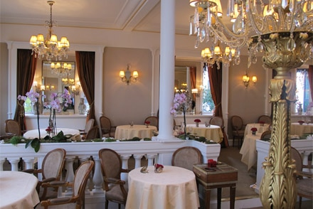 Elegant décor and service make Restaurant Lasserre worth a visit