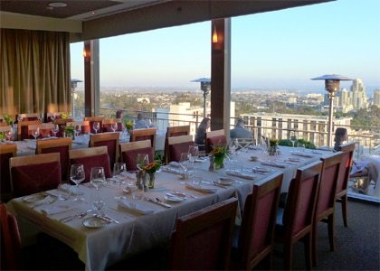 The view from Bertrand at Mister A's, one of the Top 10 Penthouse Restaurants in the United States