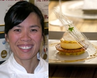 Khanh Tran and one of her desserts