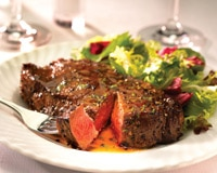 A steak from Pappas Bros. Steakhouse