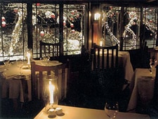 A dining area at Arrows Restaurant in Ogunquit