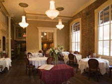 A dining room at Restaurant August in New Orleans
