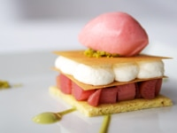 Rhubarb Napoleon by Neil Robertson of Canlis in Seattle