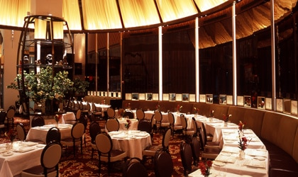 The dining room at Le Cirque in New York