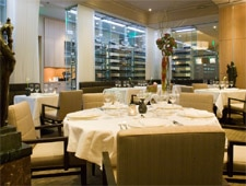 The dining room of L'Espalier in Boston
