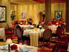 A dining room at Picasso in Las Vegas