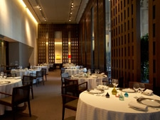 A dining room at Restaurant Guy Savoy in Las Vegas