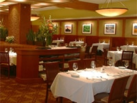 The dining room at Elway's Cherry Creek in Denver, Colorado