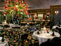 The dining room at The Prime Rib Restaurant in Baltimore, Maryland