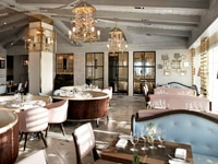 The dining room of Gordon Ramsay at The London West Hollywood in West Hollywood