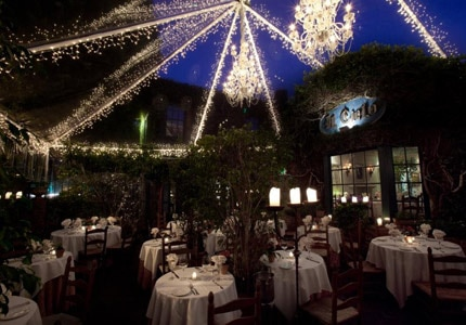 Find the most romantic restaurants in the greater L.A. area such as cozy Il Cielo in Beverly Hills