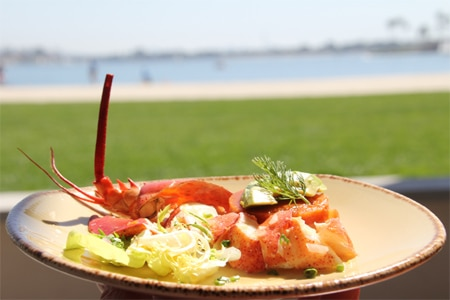 Enjoy Seafood-centric California cuisine with views of Mission Bay at Oceana Coastal Kitchen in San Diego