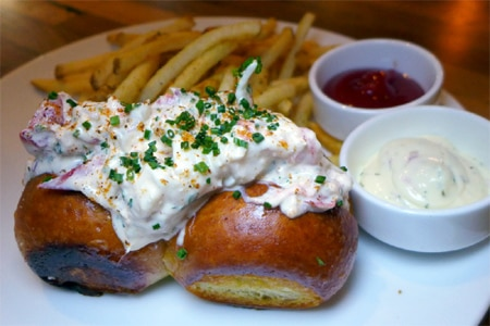 Lobster roll from Catch & Release restaurant in Marina del Rey