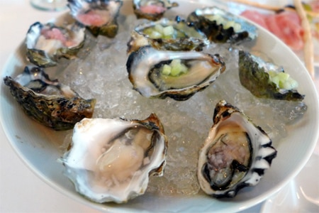 Oysters at MistralKitchen, one of GAYOT's Top 10 Restaurants with the Best Food in Seattle