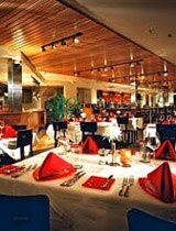 The dining room of Reds Restaurant in the Sedona Rouge Hotel & Spa