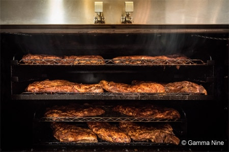 Tender, 12-hour beef brisket is one of the specialties at Black Bark BBQ
