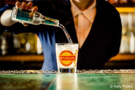 Whitechapel's hefty cocktail menu guides imbibers through the origins of gin