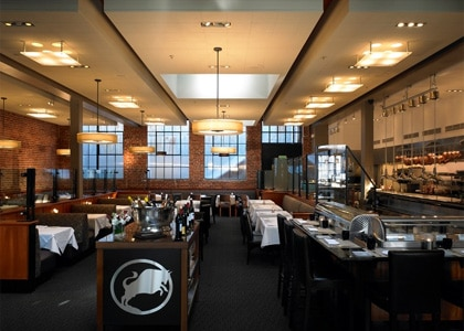 The dining room of Alexander's Steakhouse in San Francisco, one of the Top 10 Steakhouses in the U.S.