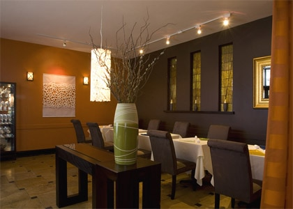 The dining room of Baumé in Palo Alto