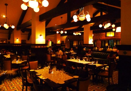 The dining room at Seafire Steakhouse in Nassau, Bahamas