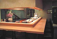 The sushi bar at Urasawa in Los Angeles