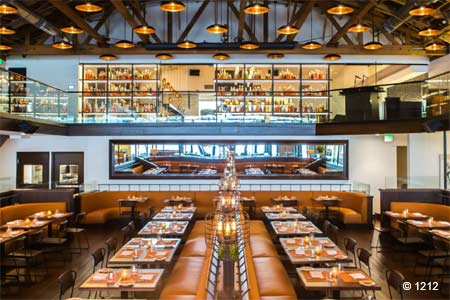 Global fare in an upscale, two-story restaurant on Santa Monica's Third Street Promenade.