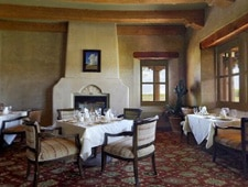 Dining room at The Corn Maiden, Santa Ana Pueblo, NM