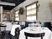 Dining room at Valenza Restaurant, Atlanta, GA