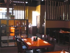 Dining room at Waraku Japanese Restaurant, Suwanee, GA