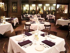 Dining room at McKinnon's Louisiane Restaurant, Atlanta, GA