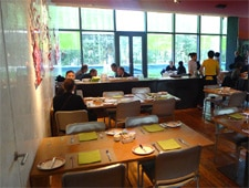 Dining room at Village Cafe, Beijing, china
