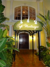Dining room at Cafe Martinique, Nassau, bahamas