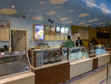 Dining room at Ben & Jerry's, Nassau, bahamas