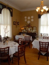 Dining room at Vienna Restaurant & Historic Inn, Southbridge, MA