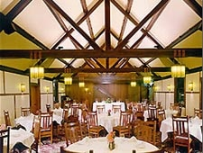 Dining room at The Roycroft Inn, East Aurora, NY