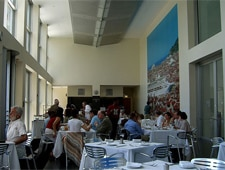 Dining room at Restaurant Puck's at the MCA, Chicago, IL