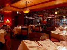Dining room at Fleming's Prime Steakhouse & Wine Bar, Chicago, IL