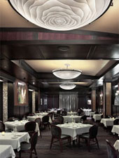 Dining room at Benny's Chop House, Chicago, IL