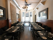Dining room at MorSo, Chicago, IL
