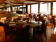 Dining room at Rivers, Chicago, IL