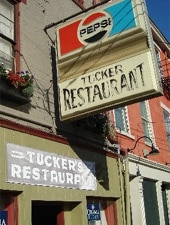 Dining room at Tucker's Restaurant, Cincinnati, OH