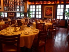 Dining room at Jeff Ruby's Steakhouse, Cincinnati, OH