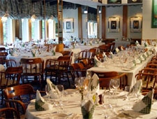 Dining room at The Left Bank Restaurant, Vail, CO