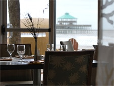 Dining room at Blu Restaurant & Bar, Folly Beach, SC
