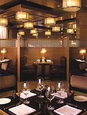 Dining room at Bourbon Steak, Washington, DC