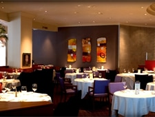 The dining room at 701 Restaurant in Washington, DC