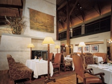 Dining room at Rough Creek Lodge, Glen Rose, TX