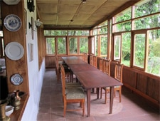 Dining room at Aquelarre Restaurant, Santa Cruz Island, ecuador