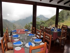 Dining room at El Crater, Quito, ecuador