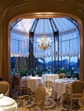 Dining room at THIS RESTAURANT HAS CHANGED NAMES Chateau Les Crayeres, Reims, france